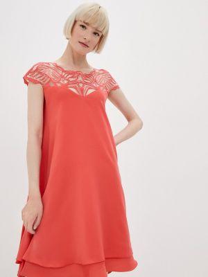 Прямое красное платье А-силуэта Seam