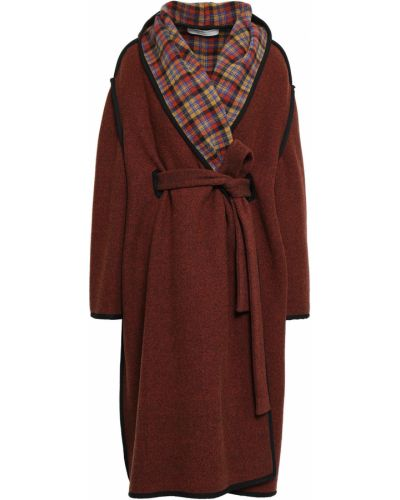 Шерстяное длинное пальто с воротником с карманами Philosophy Di Lorenzo Serafini