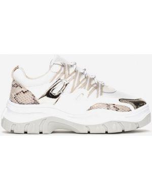 Beżowe sneakersy materiałowe Multu