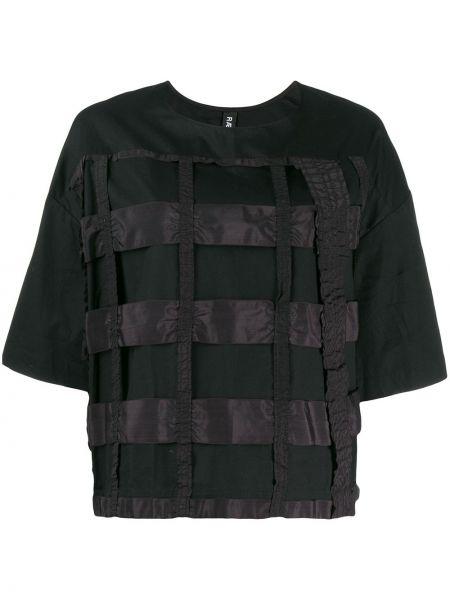 Футбольная черная футболка со стразами со спущенными плечами Raeburn