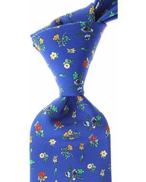 Zielony krawat z jedwabiu Battistoni
