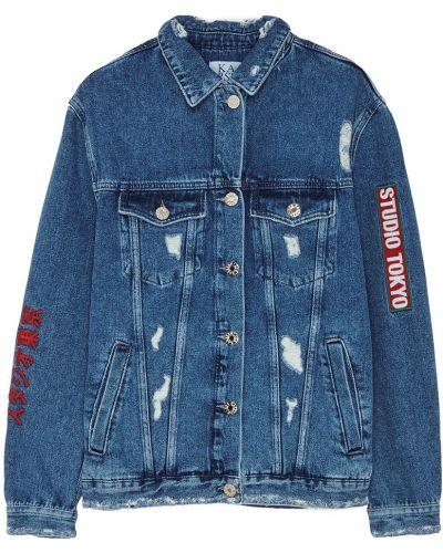 Джинсовая куртка с вышивкой на пуговицах Zoe Karssen