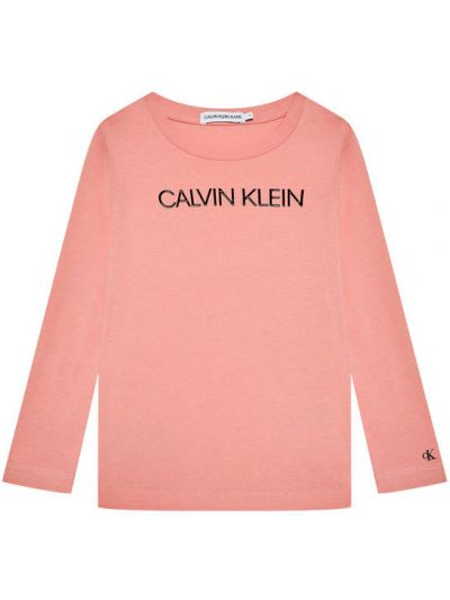 Różowa bluzka Calvin Klein Jeans