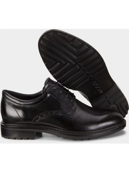 Кожаные туфли - черные Ecco