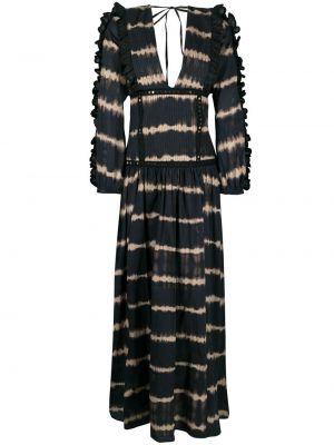Хлопковое платье макси с оборками с вырезом Wandering