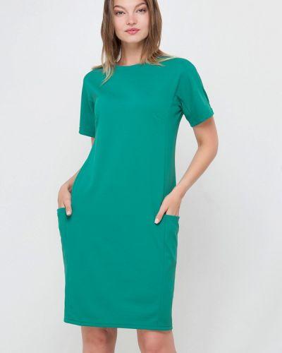 Прямое платье - зеленое Лимонти