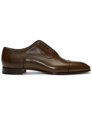 Оксфорды кожаные коричневый Christian Louboutin
