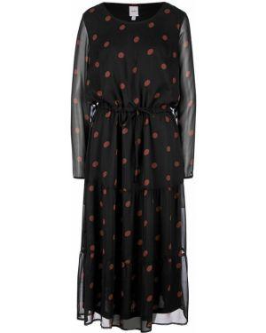 Платье в горошек с рукавами Ichi