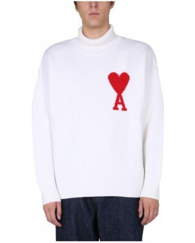 Biały sweter Ami Paris