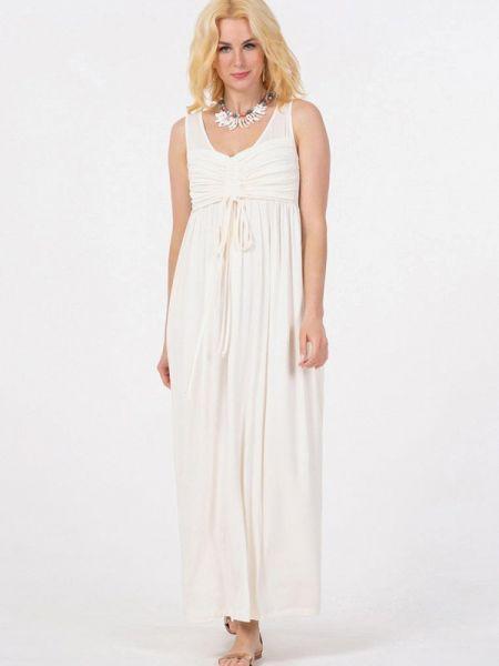 Белое прямое платье Petit Pas