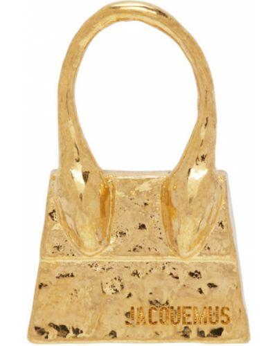 Золотые серьги золотые Jacquemus