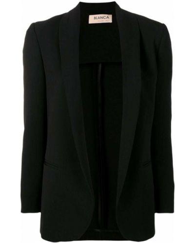 Черный приталенный удлиненный пиджак Blanca