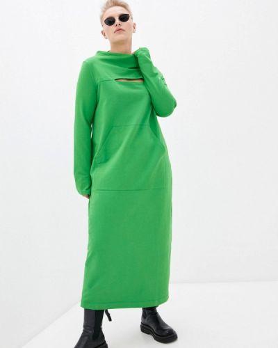 Зеленое платье Lessismore