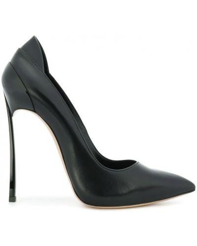 Кожаные туфли на высоком каблуке Casadei