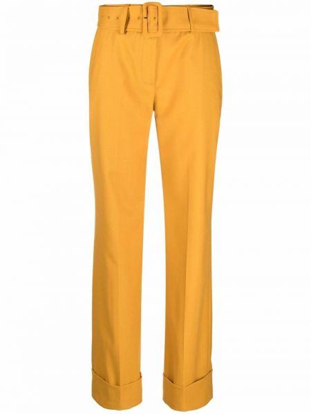 Шерстяные брюки - желтые Lardini