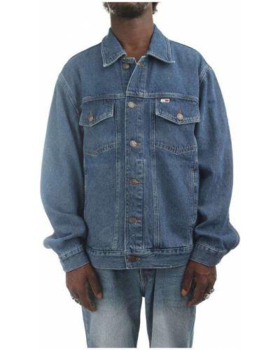 Niebieski kurtka jeansowa z haftem Tommy Hilfiger