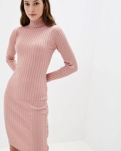 Платье розовое вязаное Liana