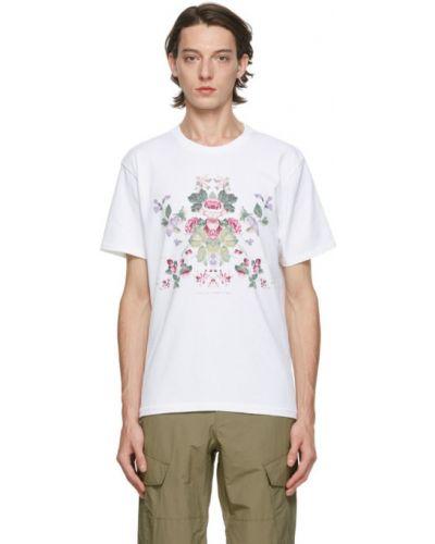 Z rękawami klasyczny biały klasyczna koszula z kołnierzem Rag & Bone