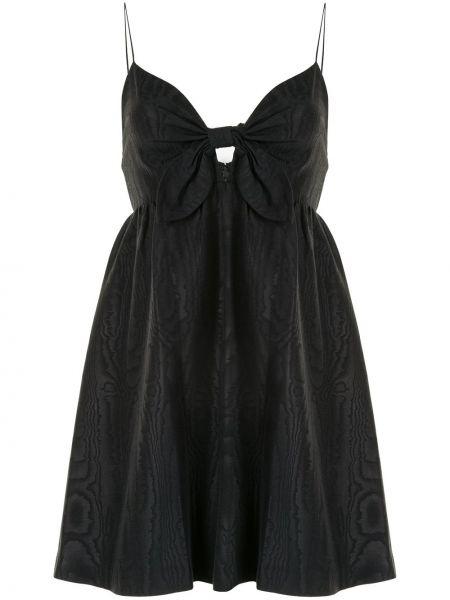 Черное тонкое платье мини на бретелях с V-образным вырезом Alice+olivia