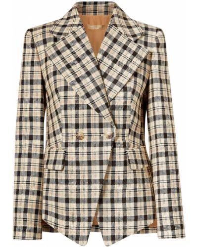 Бежевый пиджак двубортный с карманами Michael Kors Collection