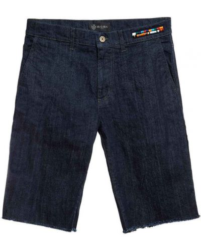 Zielone bermudy jeansowe bawełniane Mr&mrs Italy