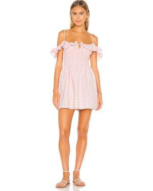 Sukienka z paskiem różowa Majorelle