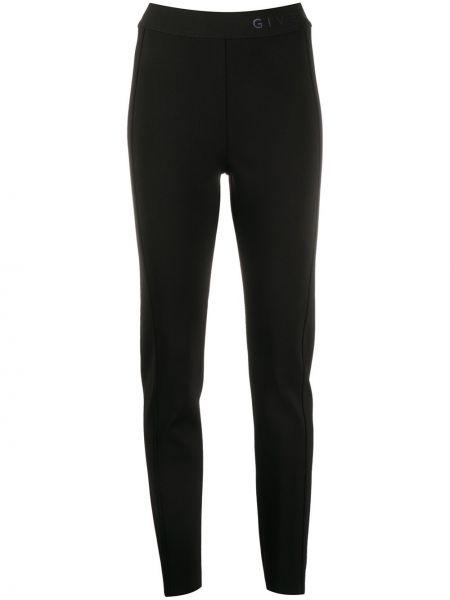 Wyposażone spodni czarny spodnie z wiskozy Givenchy