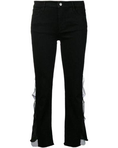 Расклешенные джинсы с карманами укороченные J Brand
