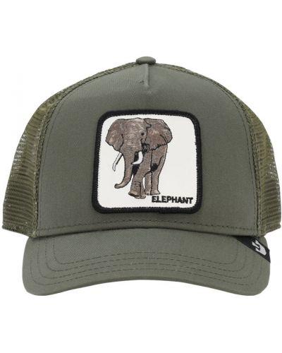 Zielony kapelusz z haftem Goorin Bros