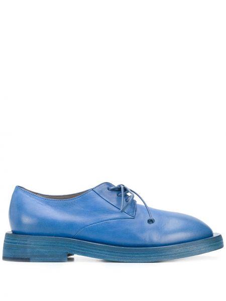 Туфли на каблуке кожаные ажурные Marsèll