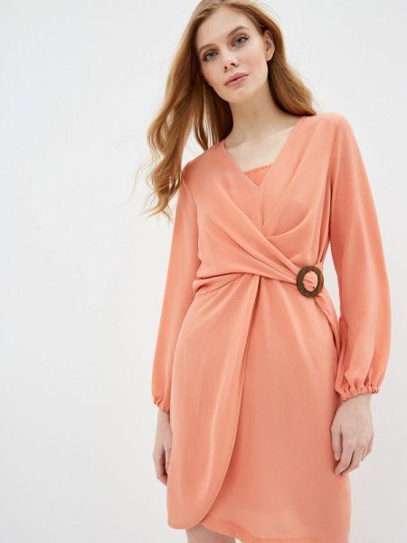 Коралловое платье Sisley