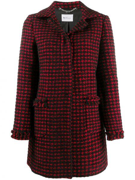 Однобортное шерстяное пальто классическое с воротником на пуговицах Blumarine