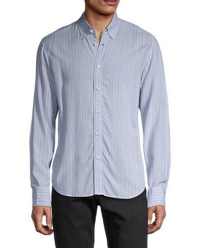 Niebieska koszula w paski z długimi rękawami Rag & Bone
