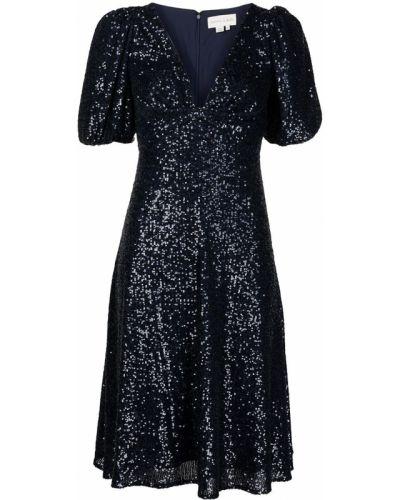 Niebieska sukienka z dekoltem w serek Sachin & Babi