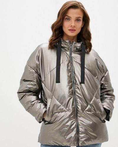 Теплая серебряная утепленная куртка Incity