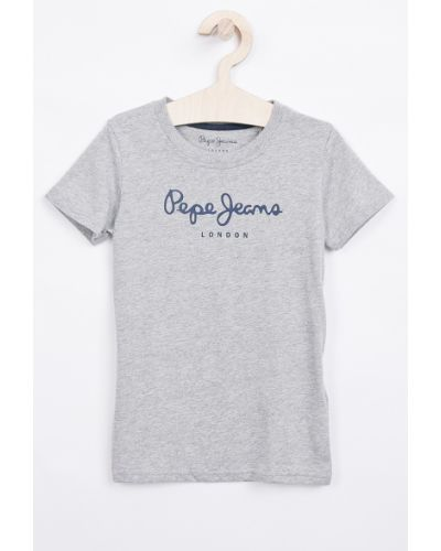 Dżinsowa koszula szary z wzorem Pepe Jeans