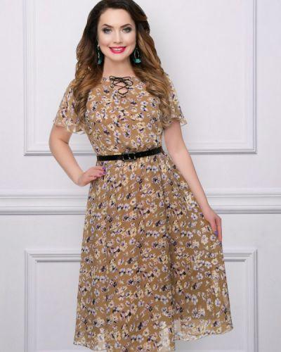 Платье с поясом шифоновое темный Charutti