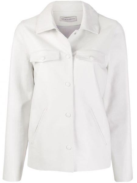 Прямая классическая рубашка с воротником на кнопках с карманами Inès & Maréchal