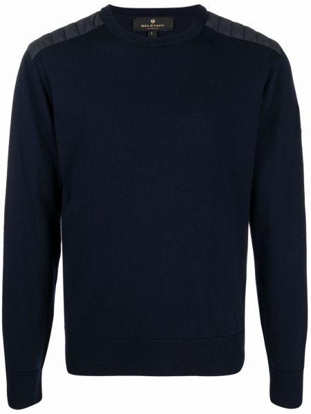 Sweter wełniany - niebieski Belstaff