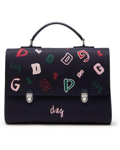 Нейлоновый черный рюкзак с карманами Dolce & Gabbana Kids