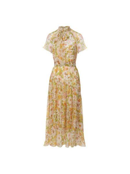 Платье мини миди с цветочным принтом Zimmermann