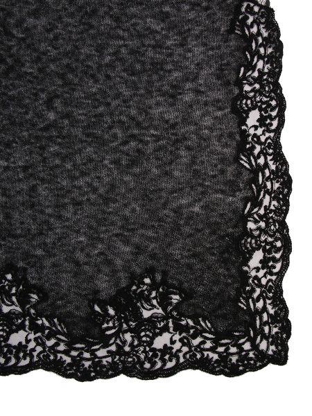 Ажурный шерстяной черный шарф Ermanno Scervino