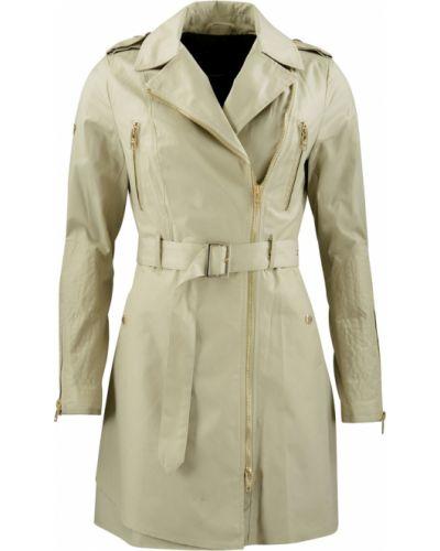 Beżowy długi płaszcz z długimi rękawami Rockandblue