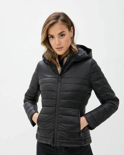 Теплая черная утепленная куртка B.style