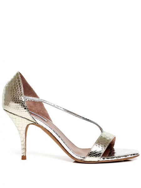 Złote sandały peep toe Tabitha Simmons