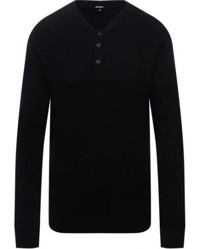 Хлопковый пуловер - черный Monrow