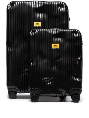 Черный чемодан с декоративной отделкой двусторонний Crash Baggage