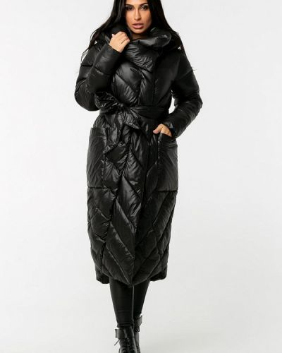 Теплая черная зимняя куртка Whitefox