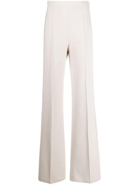 Бежевые расклешенные брюки с карманами с высокой посадкой Elisabetta Franchi