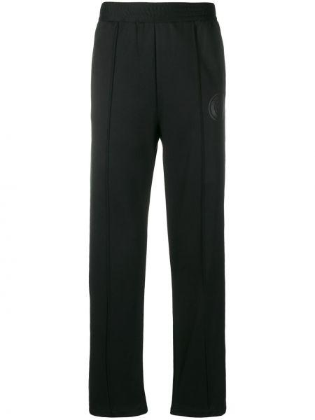 Черные спортивные брюки из верблюжьей шерсти с манжетами с карманами Roberto Cavalli